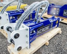 Hirox HDX-20 hydraulic breaker to suit 4 to 8 tonne machine Year: 2021 c/w tool kit ** New &