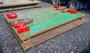 3 metre x 1.94 metre trench box c/w connectors as photographs