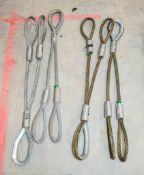4 - twin leg steel wire lifting slings SB