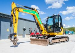 JCB 8085 Eco 8 tonne rubber tracked excavator Year: 2013 S/N: 1073098 Recorded Hours: 3492 blade,