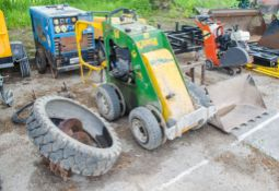 Kanga TK216 pedestrian operated petrol driven skid steer loader c/w rubber tracks, bucket, levelling