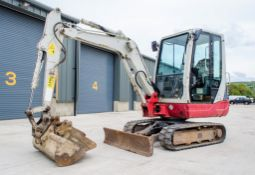 Takeuchi TB228 2.8 tonne rubber tracked mini excavator Year: 2015 S/N: 122804283 Recorded Hours: Not