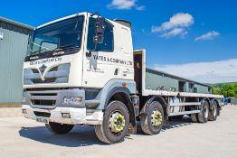 Foden 385 32 tonne 8 wheel flat bed lorry Registration Number: MX55 AOB Date of registration: 02/