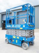 Genie GS 1932 battery electric scissor lift Year: 2007 Recorded Hours: 352 08830038