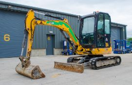 JCB 8030 ZTS 3 tonne zero tail swing rubber tracked mini excavator Year: 2015 S/N: 2432279
