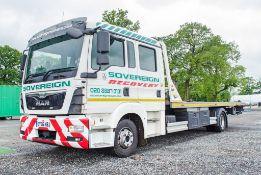 MAN TGL 12 tonne 4 x 2 auto double cab tilt slide bodied recovery truck Reg No: EY66 NBJ Date of