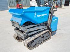 Messersi TCH R800 800kg battery electric hi tip rubber tracked walk behind dumper Year: 2016 S/N: