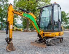 JCB 8016 1.6 tonne rubber tracked mini excavator Year: 2013 S/N: 2071396 Recorded Hours: 2331 blade,
