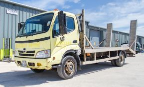 Hino 7.5 tonne beaver tail plant lorry Registration Number: PX08 CVR Date of Registration: 14.07.