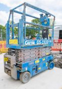 Genie GS 1932 battery electric scissor lift Year: 2008 Recorded Hours: 272 08830050