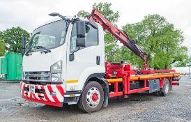 Isuzu F120.240 12 tonne 4 x 2 flat bed recovery truck Reg Number: LK09 GPE (Registration on