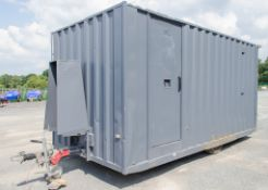 16 ft x 8 ft mobile welfare site unit Comprising of: Canteen area, seating area, toilet &