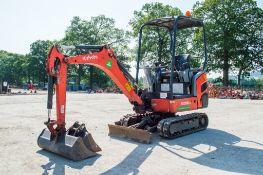 Kubota KX016-4 1.6 tonne rubber tracked mini excavator Year: 2014 S/N: 57343 Recorded hours: 1606