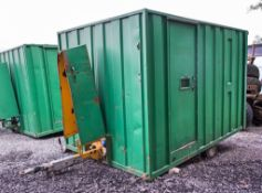 Groundhog 12 ft by 8 ft fast tow mobile welfare unit Comprising; kitchen/canteen area, toilet