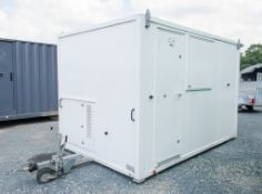 12 ft x 8 ft mobile welfare site unit Comprising of: Canteen area, toilet & drying room c/w keys &