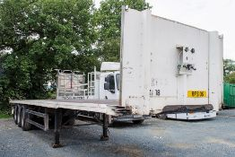 Don Bur 13.8 metre tri axle flat bed trailer Year: 2005 Chassis Number: SEPPM38EK5L048651 Serial