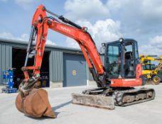 Kubota U55-4 5.5 tonne rubber tracked mini excavator Year: 2015 S/N: 53120 Recorded Hours: 3419