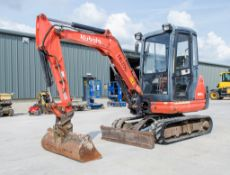 Kubota KX 61-3 2.8 tonne rubber tracked mini excavator Year: 2013 S/N: 79874 Recorded Hours: