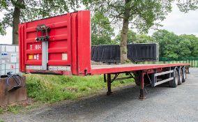 Fruehauf PXXR03 tri axle flat bed trailer Date of manuafacture: 2003 Reg Mark/Ident: C140712