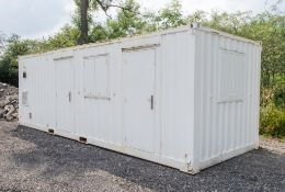24 ft x 9 ft steel anti vandal welfare site unit Comprising of: Office, Canteen, changing/drying