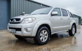 Toyota Hi-Lux Invincible 2982cc diesel 4 door double cab pick up Registration number: GJ59 ZSK