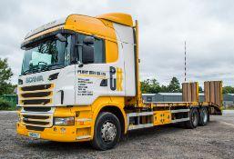 ScaniaR440 SRS manual 6 wheel beaver tail plant lorry