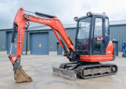 Kubota KX61-3 2.6 tonne rubber tracked excavator Year: 2015 S/N: 82259 Recorded Hours: 2075 blade,