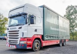 Scania R440 Topline 6 x 2 26 tonne curtain sided draw bar lorry Registration number: PK60 SYV Date
