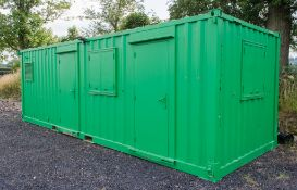 25 ft x 9 ft steel anti vandal welfare site unit Comprising of: Office, Canteen, changing/drying
