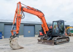 Hitachi Zaxis 85 USB-5 reduced tail swing 8.5 tonne rubber padd tracked excavator