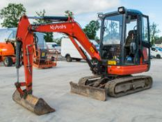 Kubota KX61-3 2.6 tonne rubber tracked excavator Year: 2015 S/N: 81539 Recorded Hours: 2696 EXC139