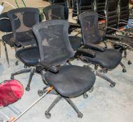 4- ajustable ergonomic office chairs