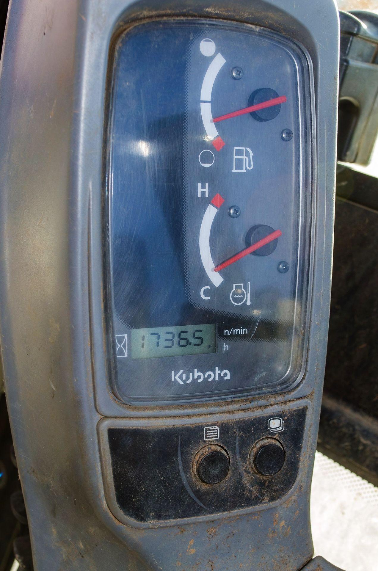 Kubota KX016-4 1.5 tonne rubber tracked mini excavator Year: 2015 S/N: 58688 Recorded Hours: 1736 - Image 17 of 19