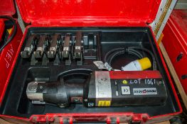 Novopress Eco301 110v pree tool c/w 5 pressing jaws and carry case PTH607