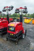 Mosa GE 6000 SX/GS 6 Kva diesel driven mobile towerlight/ generator Year: 2014 S/N: 36693