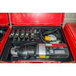 Novopress 110v pipe crimping press machine c/w 5 - press jaws & carry case PTH622