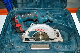 Bosch GKS 24v cordless circular saw c/w battery 02850205 ** No charger **