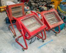3- Elite heat infra red heaters