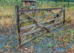 12ft and 4 ft timber gate as photographed