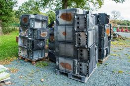 4 - pallets of LPG cabinet heaters as photographed