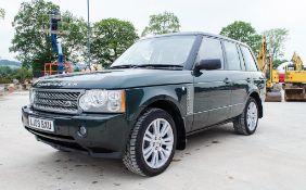 Range Rover Vogue SE TDV8 3.6 diesel 5 door 4wd estate car Registration Number: AJ09 BXU Date of