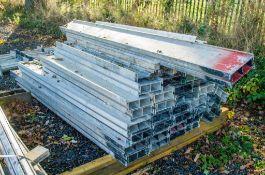 Approximately 40 aluminium box forms
