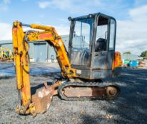 JCB 802 2.4 tonne rubber tracked mini excavator S/N: 0732149 blade, piped, manual quick hitch & 2