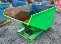 Steel fork lift tipping skip A979137