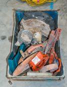 Box of Husqvarna cut off saw spare parts