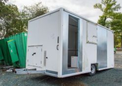 Easy Cabin 15ft x 8ft mobile welfare cabin c/w canteen area, toilet & drying room ** In