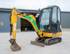 JCB 8016 CTS 1.5 tonne rubber tracked mini excavator Year: 2015 S/N: 2071738 Recorded Hours: 1882