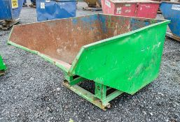 Steel fork lift tipping skip A752545