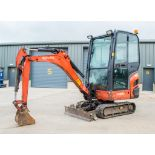 Kubota KX016-4 1.6 tonne rubber tracked excavator Year: 2013 S/N: 56652 Recorded Hours: 3393 c/w