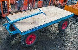 4 wheel warehouse/platform trolley L440W380